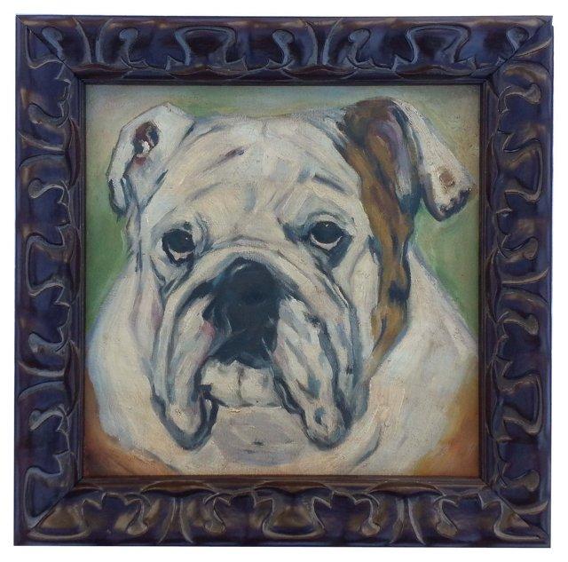Oil Portrait of a Bulldog
