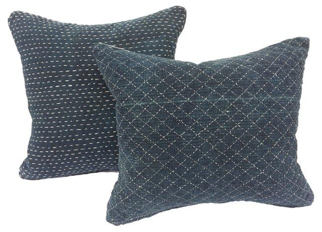 Indigo Baby Carrier Pillows, Pair