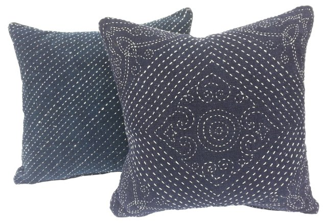 Baby Carrier Indigo Pillows, Pair