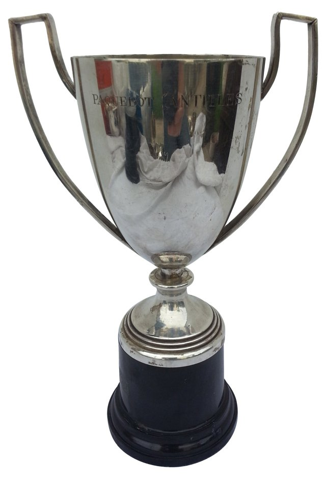 French Art Deco Silver Trophy