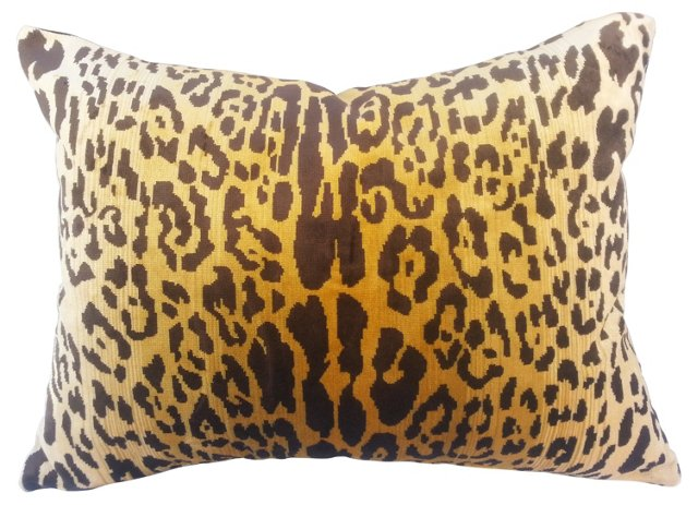 Scalamandré Leopard Velvet Pillow