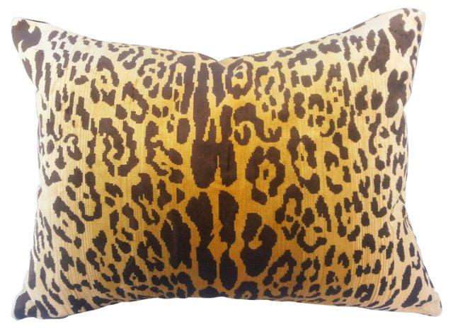 Scalamandré  Leopard Velvet Pillow