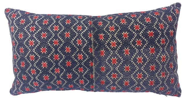 Embroidered Tribal Star Pillow