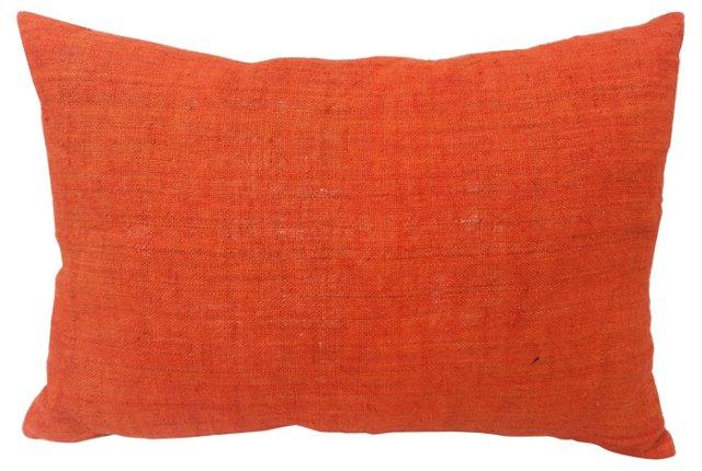Orange Homespun Pillow