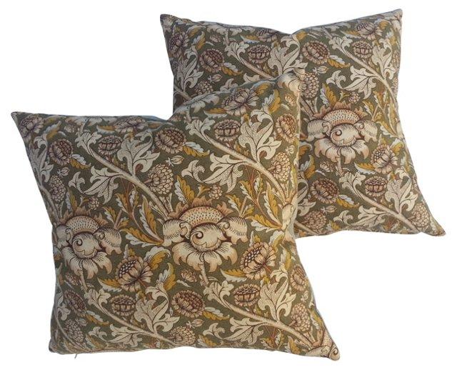 William Morris Pillows, Pair