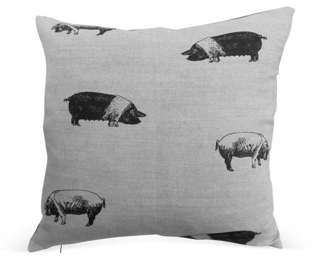 Liberty of London Pig Print Linen Pillow