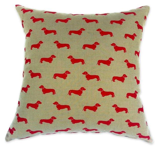 Osbourne & Little Dachshund Pillow