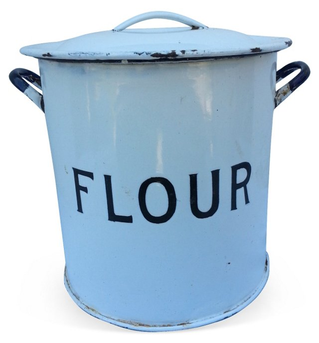 Art Deco Flour Canister
