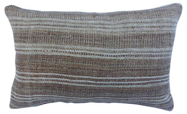 Homespun Striped Linen Pillow