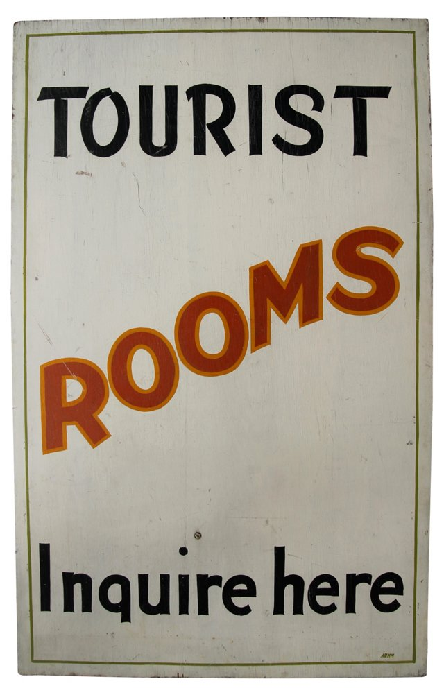 Tourist Rooms Sign