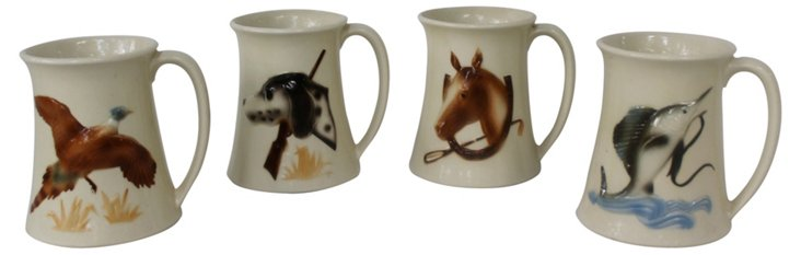 Sporting Mugs,  Set of 4