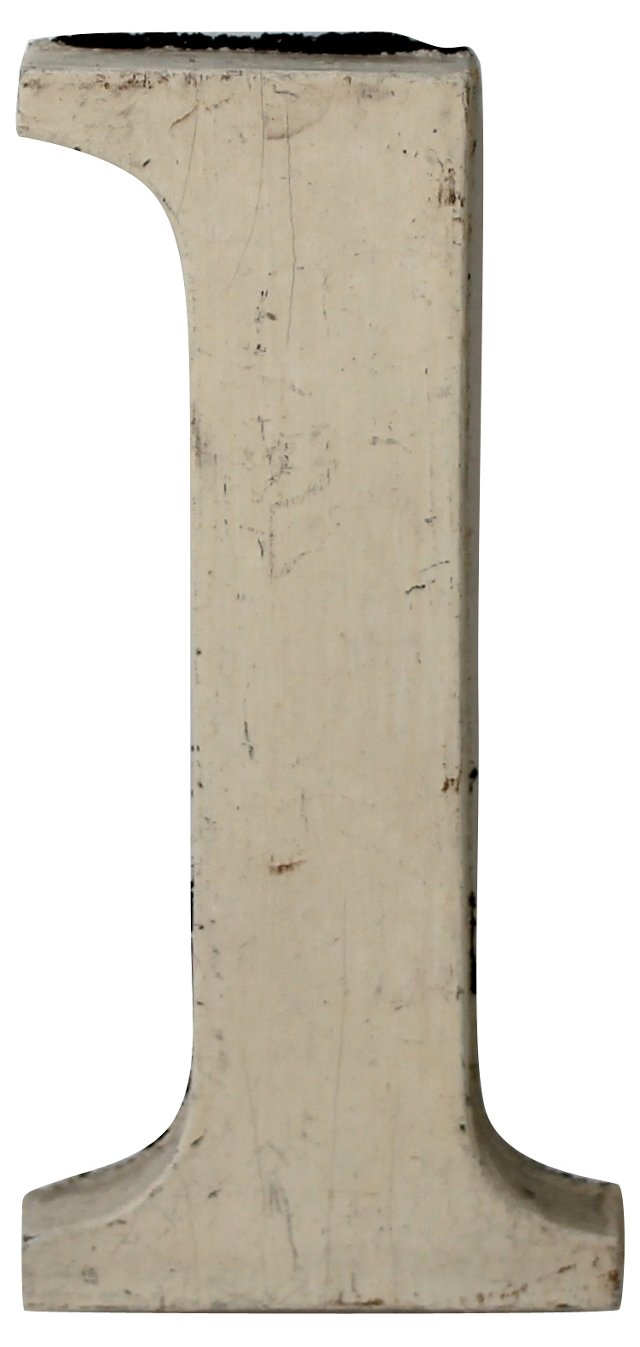 Wooden White Number 1