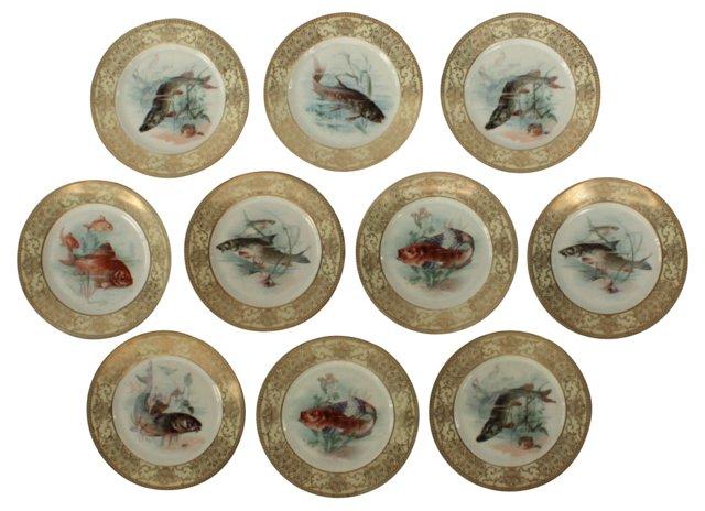 Bavarian Fish Plates, S/10
