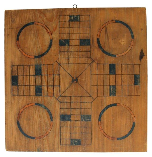 Parcheesi Gameboard, C. 1900