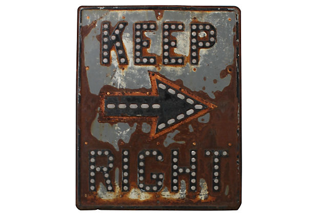 Keep Right Road  Sign