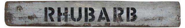 Rhubarb Farm Stand  Sign