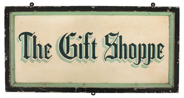 The Gift Shoppe Sign