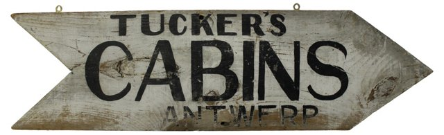 Tucker's Cabins Sign
