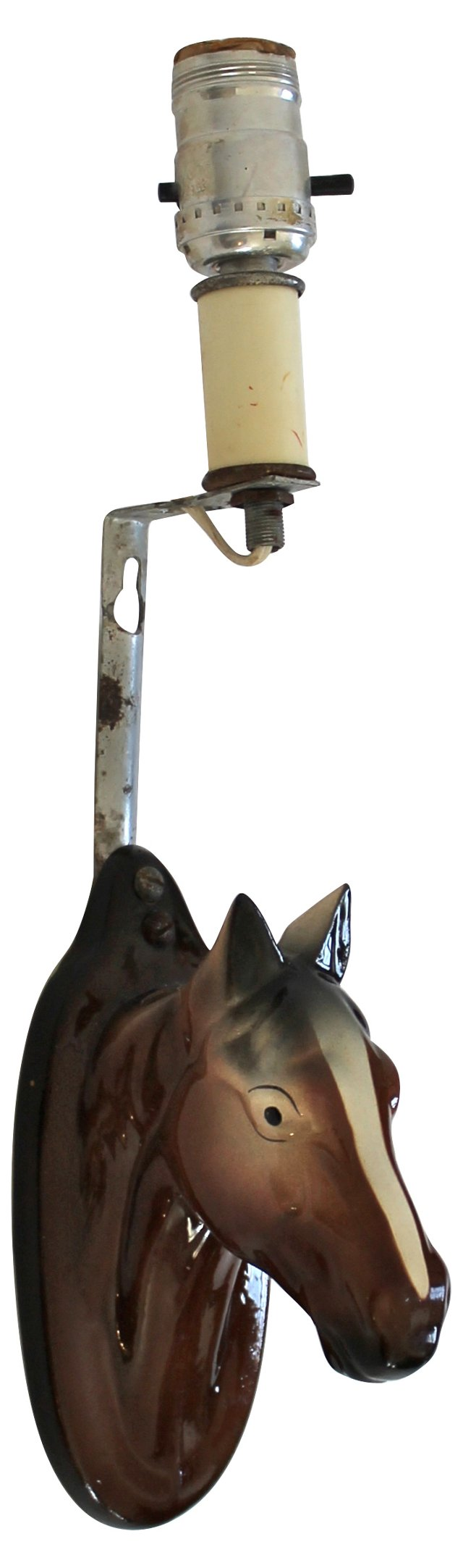 Horse Head Sconce