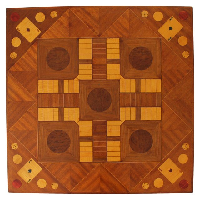Marquetry Parcheesi Gameboard