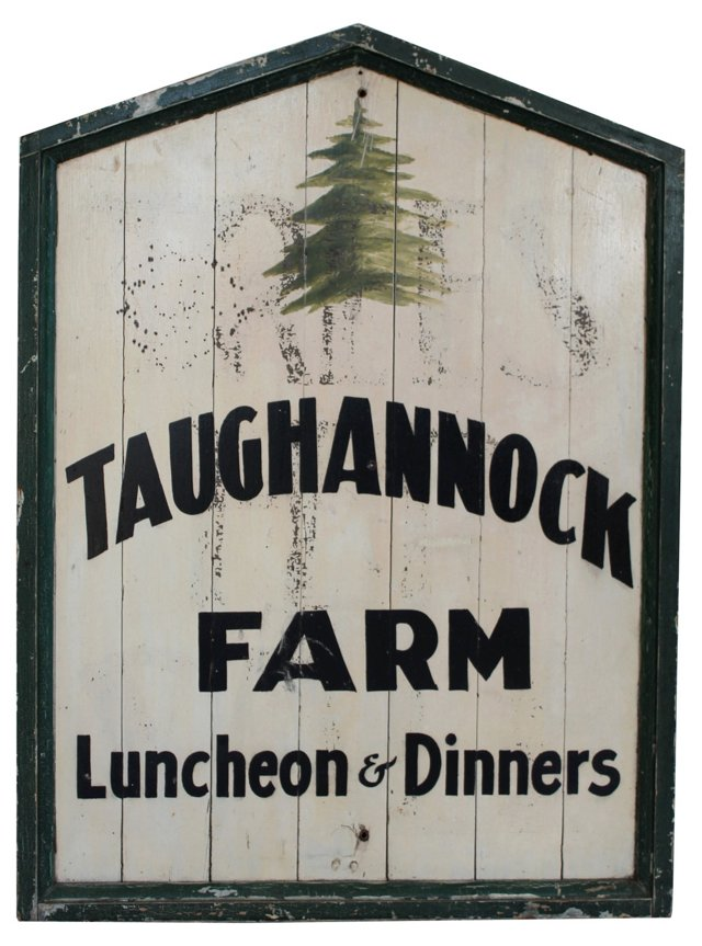 Taughannock Farm Sign