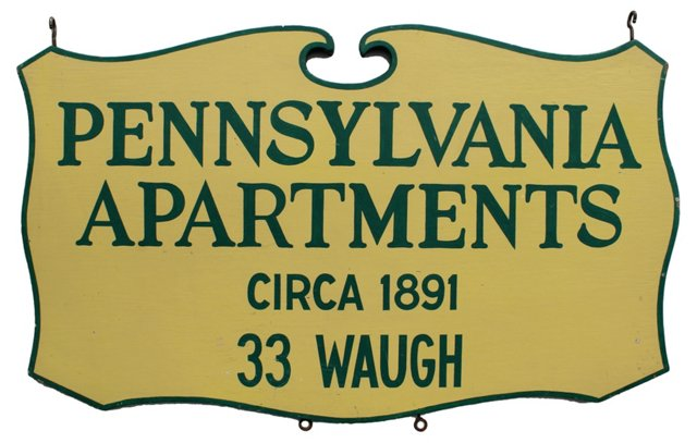 Pennsylvania Apartments Sign