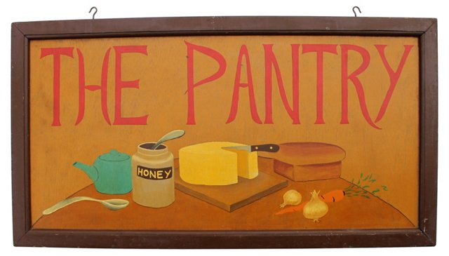 The Pantry Sign