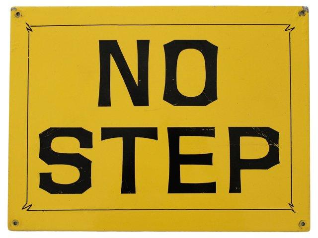 No Step Sign