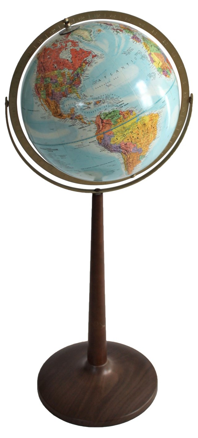 Relief Axis Globe on Stand