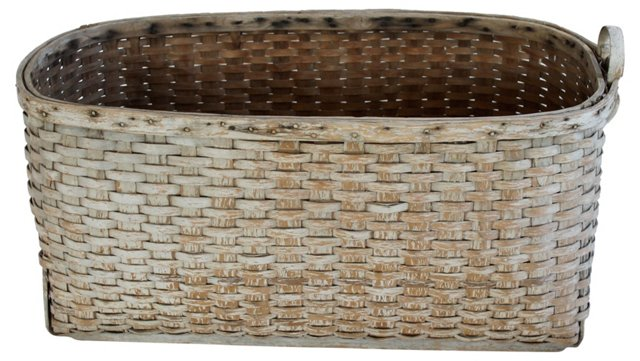 Large Painted Basket