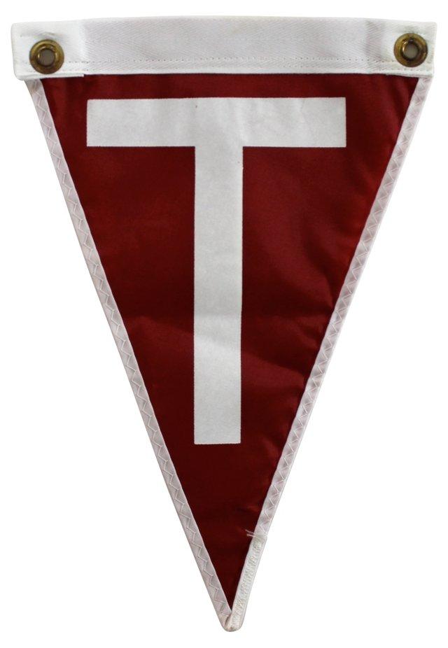 Nautical Flag, Letter T