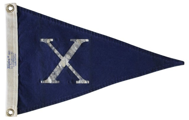 Nautical Flag, Letter X