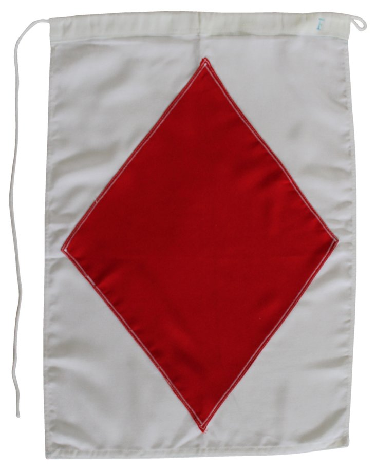 Nautical Signal Flag, Letter F