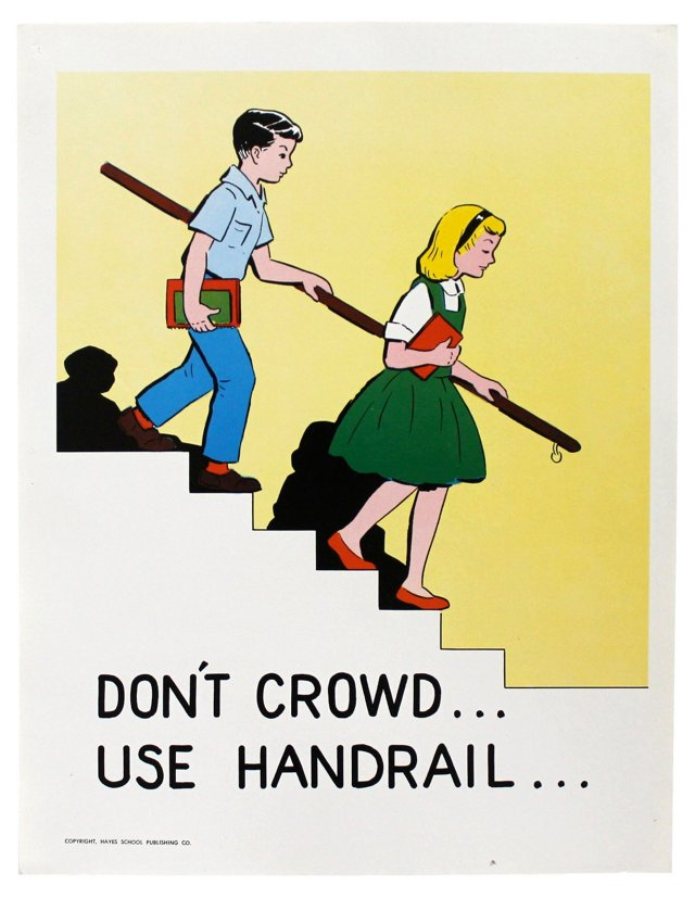 Don't Crowd Safety Poster
