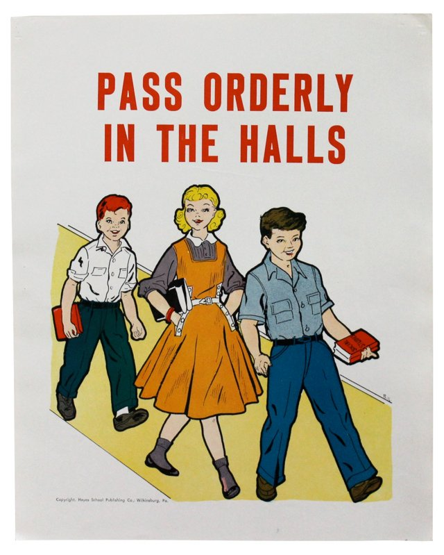Pass Orderly Poster