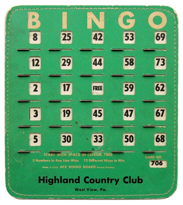 Green Bingo Card