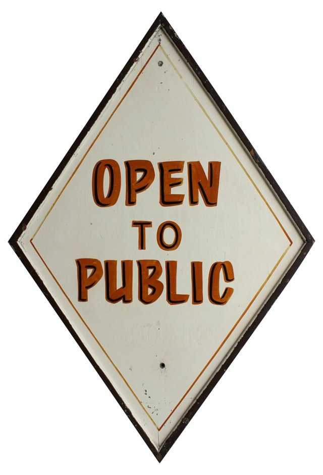 Open to Public Sign