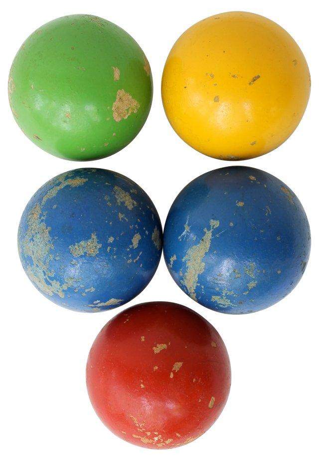 Bocce Balls, S/5