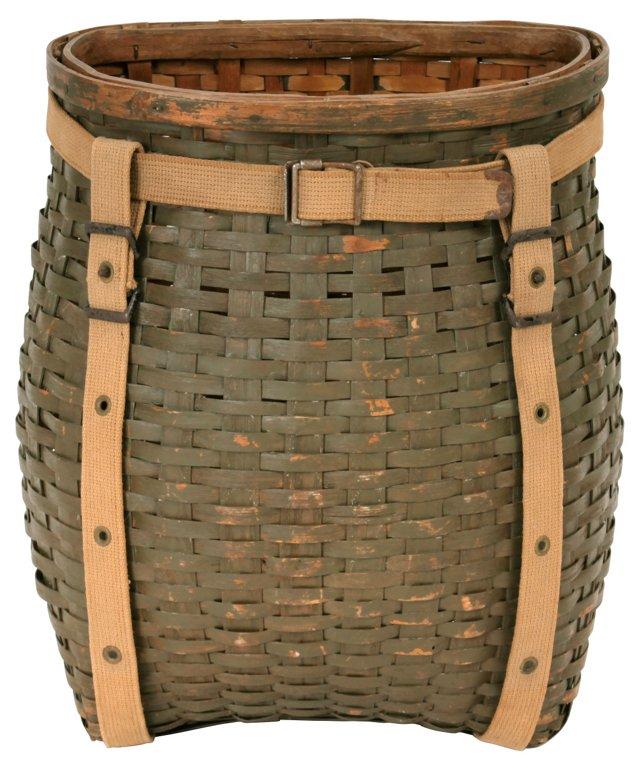 Moss Green Pack Basket