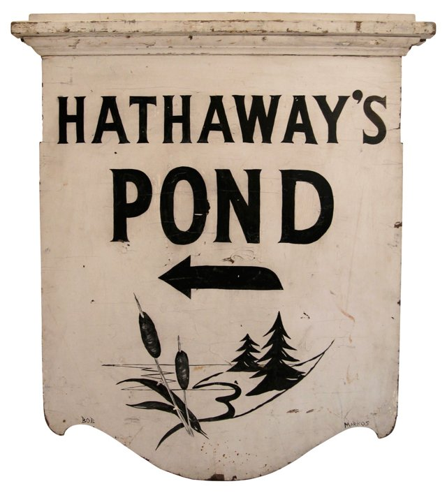 Hathaway's Pond Sign