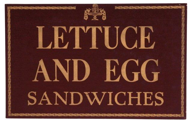 Lettuce & Egg Sandwiches Restaurant Sign