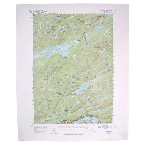 Topographical Map of Big Moose, NY