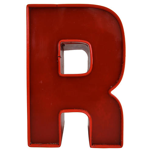 Marquee Letter R