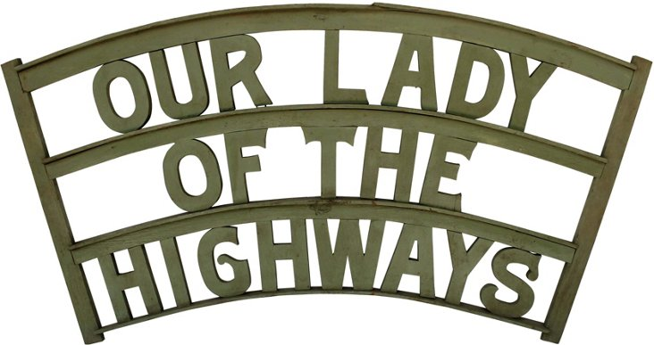 Our Lady of the Highways Sign