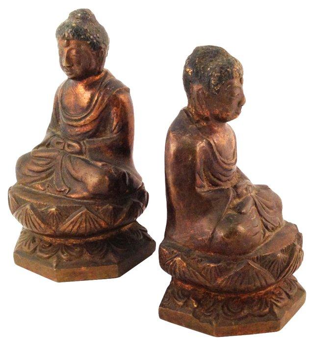 Brass Buddha Bookends