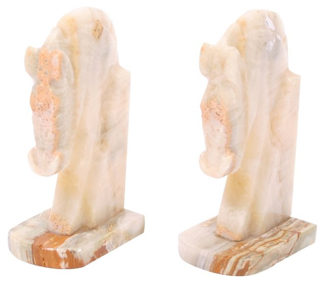 Onyx Horse Head Bookends