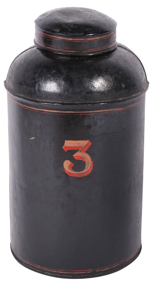 English Grocer's Metal Tea Canister