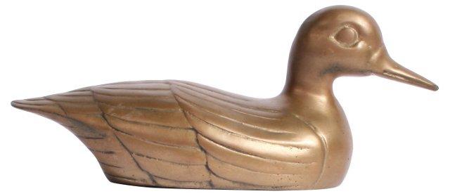 Brass Duck Figurine