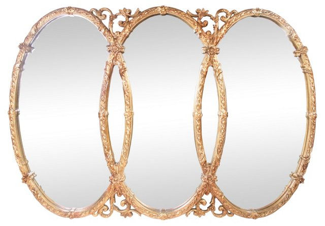Ornate Baroque-Style Wall Mirror