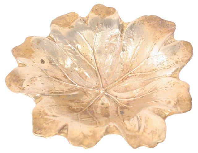 Solid Brass Leaf Catchall